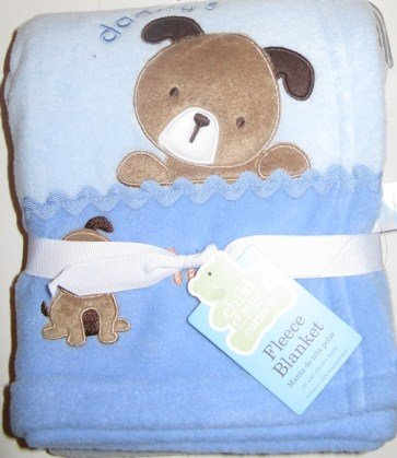 Carters Daddy's Champ Blue Dog Blanket