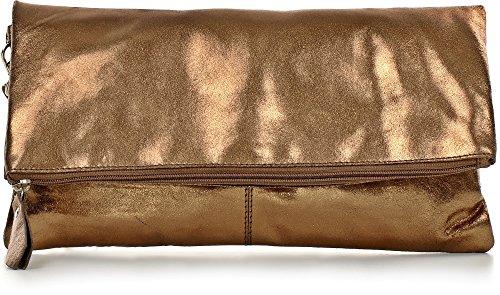 clutch de bolsos bolsas de fiesta mano cm 32 para x x bolso an x CNTMP bolso 17 bolso 2 5 de tendencia x cuero de clutch bolso metálico a Bronce bolso l señora qUXx0wvO