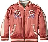 Stella McCartney Kids Baby Girl's Willow Embroidered Reversible Bomber Jacket (Toddler/Little Kids/Big Kids) Raspberry 14