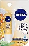 NIVEA A Kiss of Milk & Honey Natural Defense & Soothing Lip Care 0.17 oz (Pack of 4)