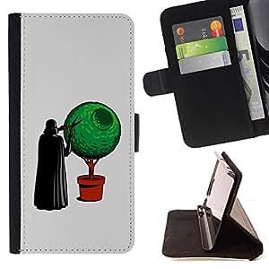 Jordan Colourful Shop - Funny Vader Bonsai For Samsung Galaxy Note 4 IV - < Leather Case Absorci????n cubierta de la caja de alto impacto > -