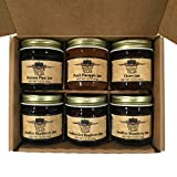 Kitchen Kettle Village (Amish Made) Jam 6-pack Variety Sampler, 1.5 Ounce Jars [1 of each flavor]