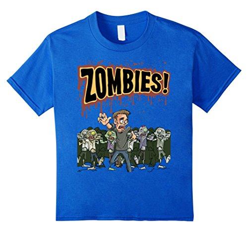 Kids Zombies T-Shirt Cool Halloween Gift Idea TShirt 6 Royal Blue