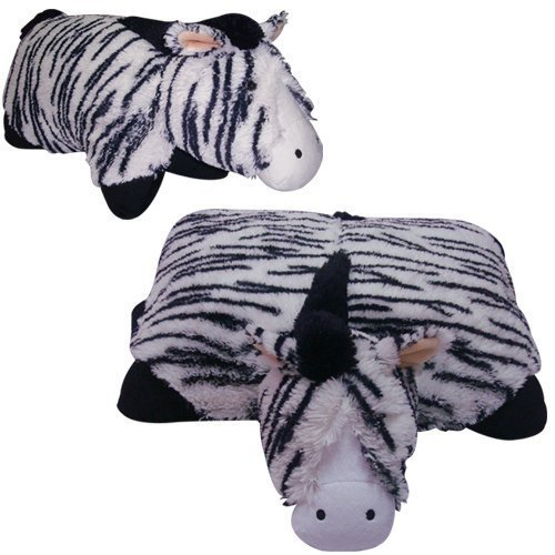 BLACK ZEBRA PET CUSHION ANIMAL PILLOW,