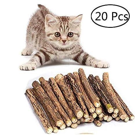 Umiwe Catnip Matatabi,20 Palitos De Hierba Gatera De Matatabi para Gatos Natural Cuidado Dental