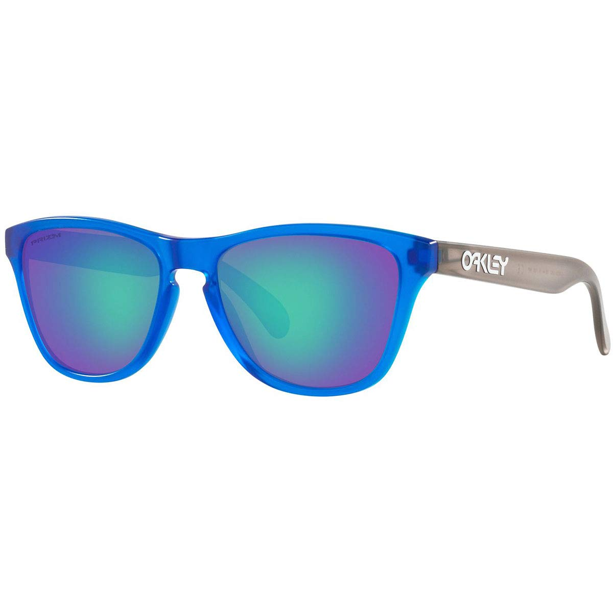 Oakley Boys OJ9006 Frogskins XS Round Sunglasses, Matte Translucent Sapphire/Prizm Sapphire, 53 mm by Oakley