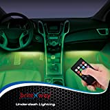 Car Interior Lights - 7 Colors and Multiple Patterns for Front & Back Underdash Decoration Lighting - Super Cool Music Rhythm & Sound Activation Function - Make Your Next Drive Fun & Exciting