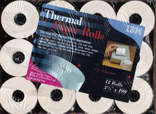 IBM Thermal Paper Rolls - 12 Roll Pack - 3 1/8