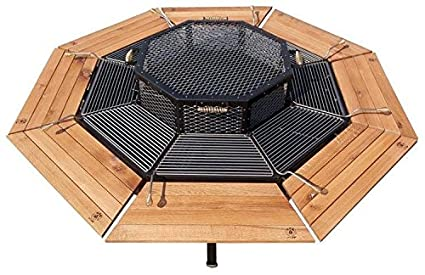 Amazon Com Jag Eight Grill Fire Pit Table 3 In 1 Garden