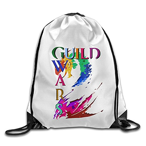 [Bekey Guild Wars 2 Thief Gym Drawstring Backpack Bags For Men & Women For Home Travel Storage Use Gym Traveling Shopping Sport Yoga] (Raptor Costume Runescape)