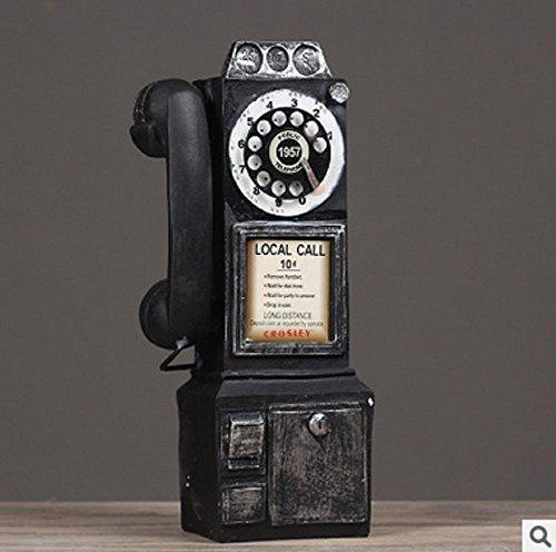 Sulin Bar Retro Vintage Wall Telephone Home Decoration 3 Colors 13830Cm 1Pcs,Natural