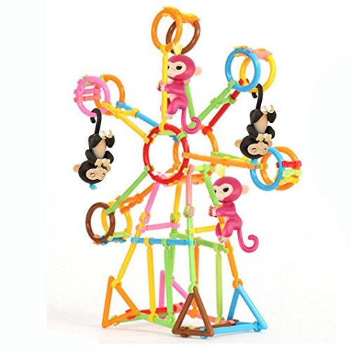 FanXing Baby Monkey Toy Stent, DIY Building Playset Interactive Baby Monkey Climbing Stand for Monkey Mia (100pc)