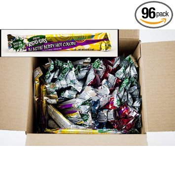 Fruit Rollups, Burstin' Berry HOT COLORS, 96/Case Special Edition Reduced (Betty Crocker Halloween Fruit Flavored Snacks)