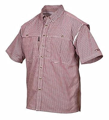 Drake Men's Short Sleeve Wingshooter's Gingham Game Day Shirt