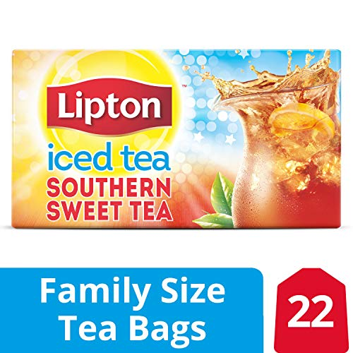 Lipton Family Tea Bags Southern Sweet Tea, 22 ct