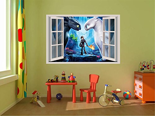 (How to train your dragon Toothless Light fury 3D Wall Decal Sticker 18