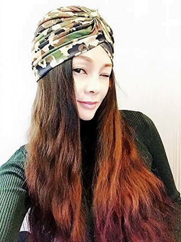 Camouflage Turban,Womens Turban,Full Turban,Turban Headband,Turban Hat,Stretch