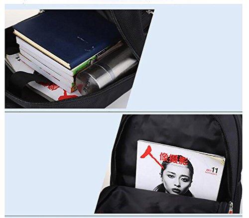 17 Nylon Laptop Rucksack Sporttasche Herren Schulter Daypack 48x37x21cm y0ILsmD9z