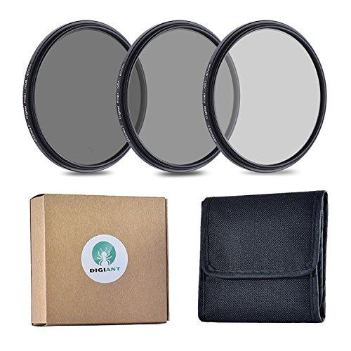 49mm Neutral Density Professional Lens Filter Set (ND2 ND4 ND8), ND Filters with 49mm Filter Thread + Filters - Mm 49
