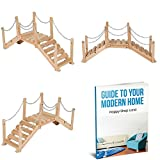 Garden Foot Bridge Natural Colour Wooden Material Resistant To Weather Conditions Stylish And Modern Design Easy Assembly Instructions Included Sturdy And Durable Construction & E-Book