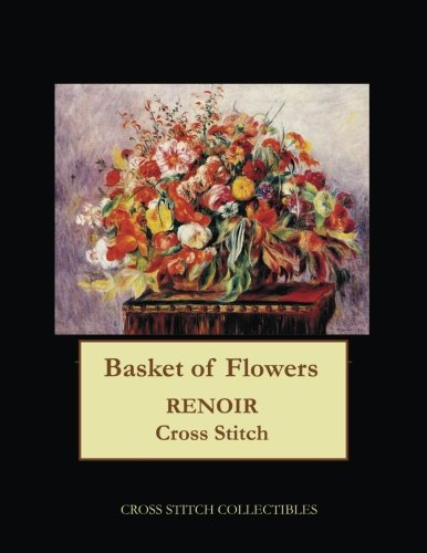 Basket of Flowers: Renoir cross stitch pattern
