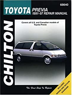 Toyota Previa, 1991-97 (Chilton Total Car Care Series Manuals) 1st edition
