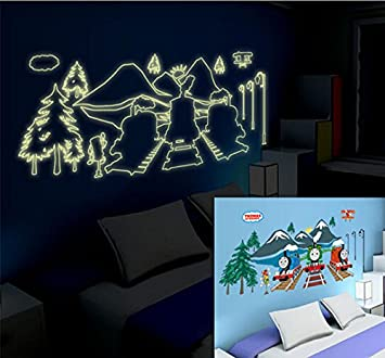 Thomas And Friends Glow In The Dark Wall Mural