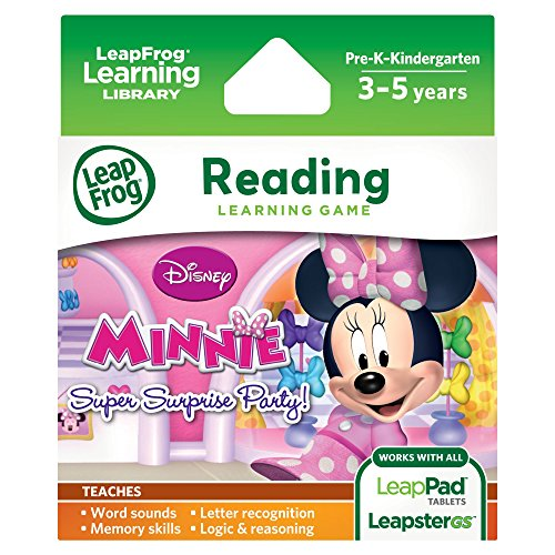 - LeapFrog Disney Minnie's Bow-tique Super Surprise Party Learning Game (for LeapPad Platinum, LeapPad Ultra, LeapPad1, LeapPad2, LeapPad3, Leapster Explorer, LeapsterGS Explorer)