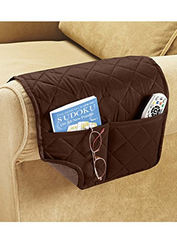 Carol Wright Gifts Arm Chair Organizer, Color Brown, Brown by Carol Wright Gifts (Image #1)