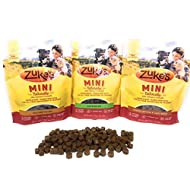 Zuke's Mini Natural Soft Dog Treat Three Pack (Duck, Chicken, Peanut Butter & Oats)