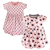 Touched by Nature Baby Girls 2-Pack Organic Cotton Dress, Blossoms, 3-6 Months