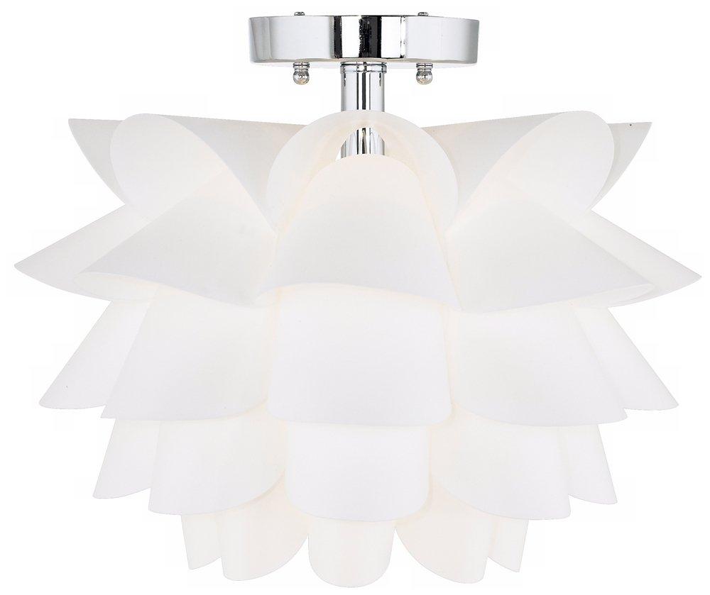 Possini Euro Design White Flower 15 34 Wide Ceiling Light Servius