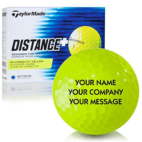 - Taylor Made Distance+ Yellow Personalized Golf Balls