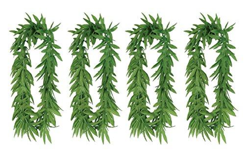 Beistle S50455AZ4, 4 Piece Tropical Fern Leaf Leis, 40