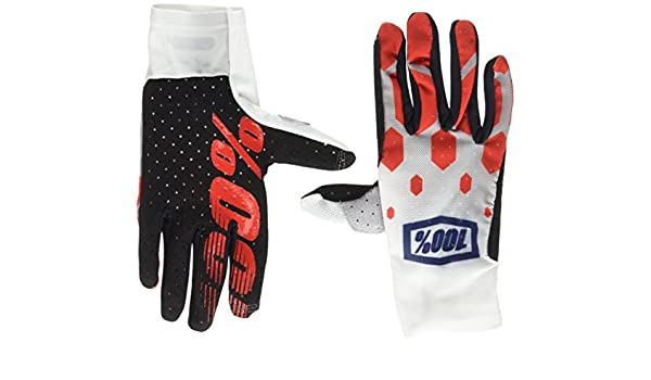 100/% Celium Mens Off-Road Motorcycle Gloves Legacy Red//X-Large