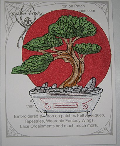 (Epic Bonsai Tree Iron on Patch Large size)