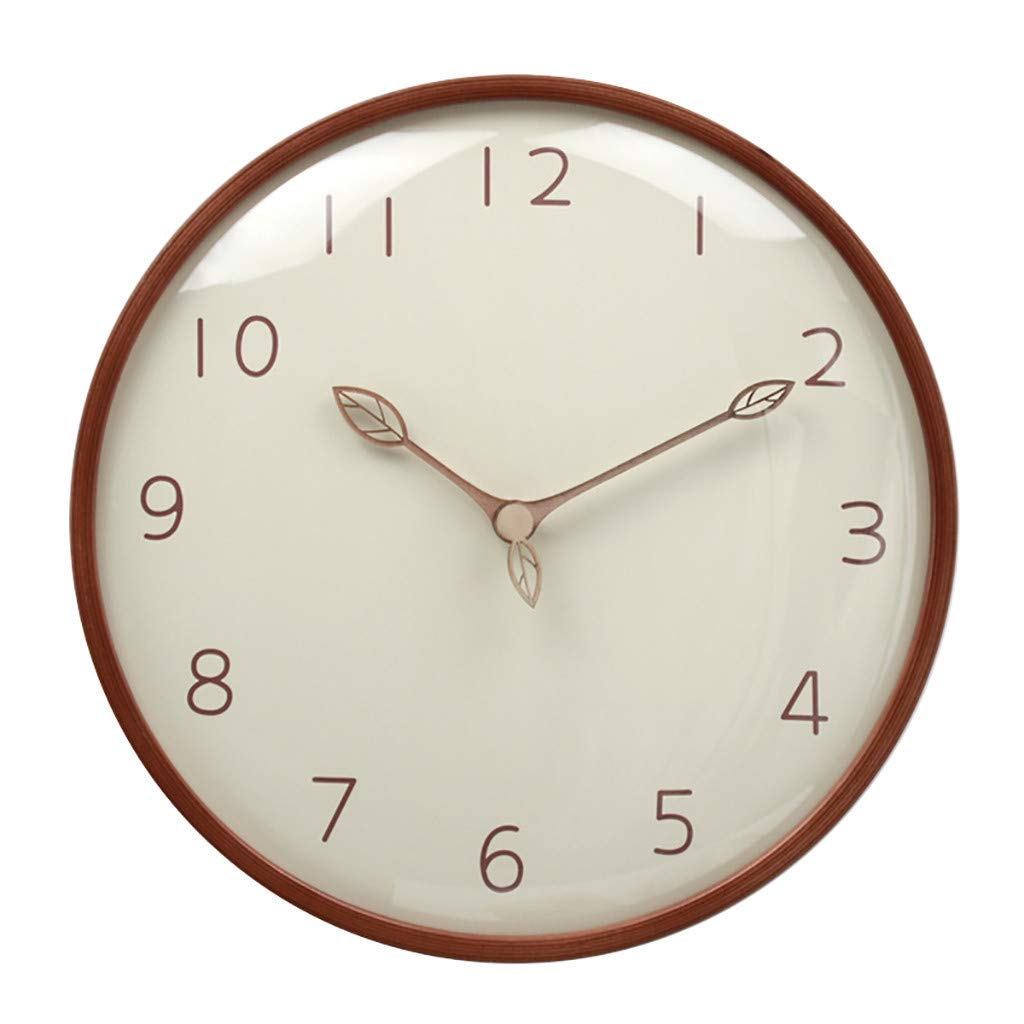 AGUIguo Modern Wall Clock, 12'' Glass Cover Non-Ticking Silent Decorative Battery Operated Wall Clock for Living Room Home Office School by AGUIguo