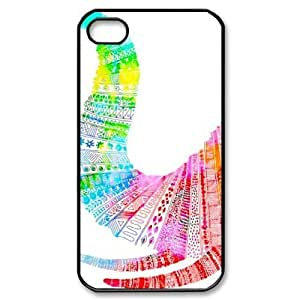 elephant pattern For Apple Iphone 4/4S Case Cover With Unique Design With Black