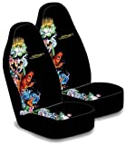 Ed Hardy Koi Fish Seat Covers (Pair)