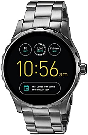 Fossil Q Marshal Gen 2 Smoke Stainless Steel Touchscreen Smartwatch FTW2108