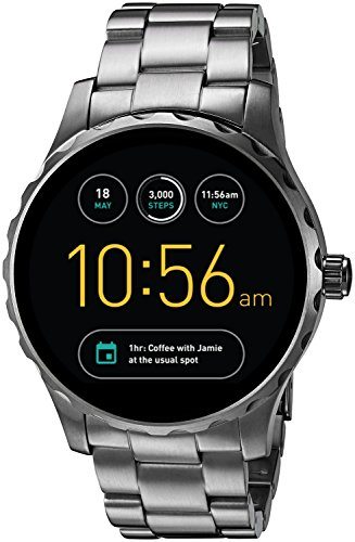 Fossil Q Marshal Gen 2 Smoke Stainless Steel Touchscreen Smartwatch...