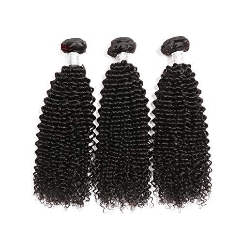 Afro Kinky Curly Hair Bundles 3pcs lot Brazilian Hair Weave Bundles Remy Human Hair Bundles Weaves 10-28 No Tangle&Shedding,18 18 18,Natural Color
