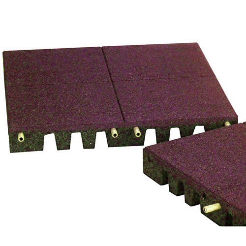 PlayFall Playground Safety Surfacing Terra Cotta Pallet of 80 Tiles - 2' x 2' Rubber Tiles (320 sq. ft.) 1.75'' Thickness