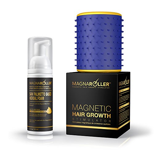 MagnaRoller Magnetic Hair Growth Products - Natural Hair Loss and New Regrowth Treatment System for Men & Women | DHT Blocker Anti Thinning Formula | Best Supplement Product for Faster (Active Strengthening System)