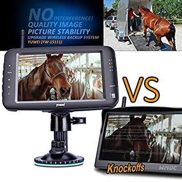 Wireless Backup Camera System, IP69K Waterproof Wireless Rear View Camera 5 LCD Wireless Reversing Monitor for Trailer, RV, Trucks, Horse-Trailer, School Bus, Farm Machine,etc