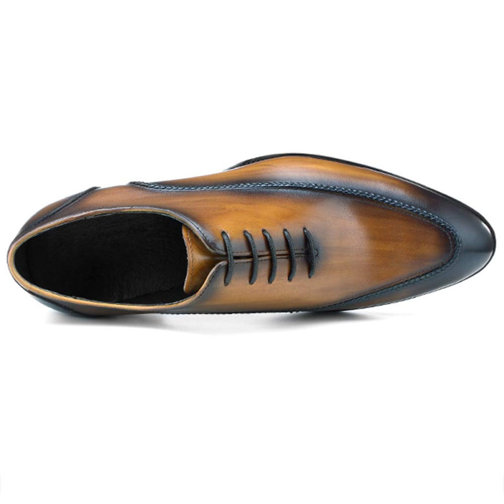 Zapatos Zapatos Zapatos De Cuero para Hombres Cordones Zapatos De Vestir Oficina Clásica Cuero De Vaca Punta De Cuero Top Empresarial c99069
