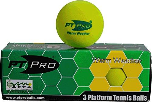 PT/PRO Summer Platform Tennis Balls - 3 Pack (Apta Platform Tennis)