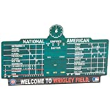 MLB Chicago Cubs 11-By-17-Inch Score Board Wood Sign
