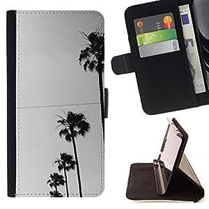 Momo Phone Case / Flip Funda de Cuero Case Cover - Los árboles Fila Sky View Road la calle - HTC One A9