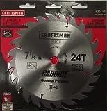 Craftsman 32112 7-1/4' x 24 Tooth Carbide Saw Blade